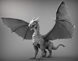 zbrush dragon 3d model obj ztl