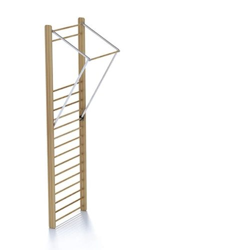 workout ladder with chin up bar 3d model  1