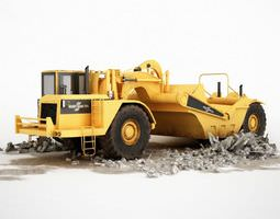 3D model truck Yellow Construction Truck