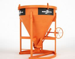 3D Industrial Conrete Mixer