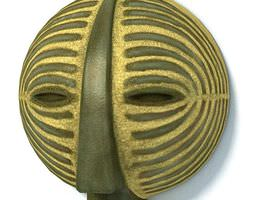 3d model african tribal mask
