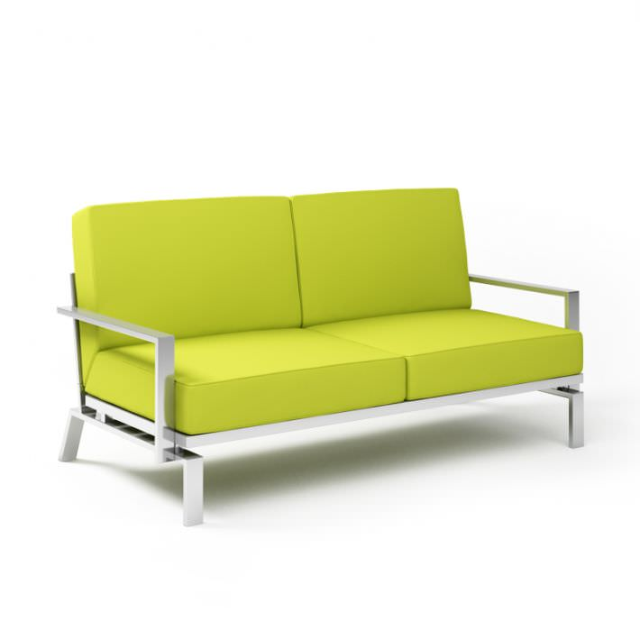 Modern Steel Lime Loveseat 3d Model Obj Cgtrader Com