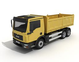 3D Yellow Dump Truck