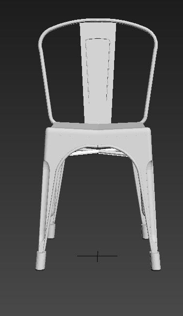 ... Tolix Chair 3d Model Low Poly Max 3ds Dxf Dwg Skp 3 ...