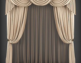 low-poly Curtain 3D model 161