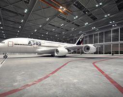 3D model White Passanger Plane