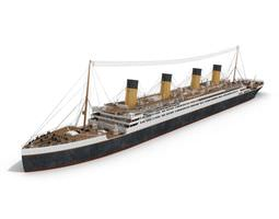 titanic like passenger ship 3d model