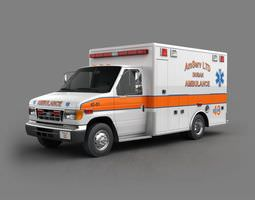 Equipped Emergency Vehicle 3D Model