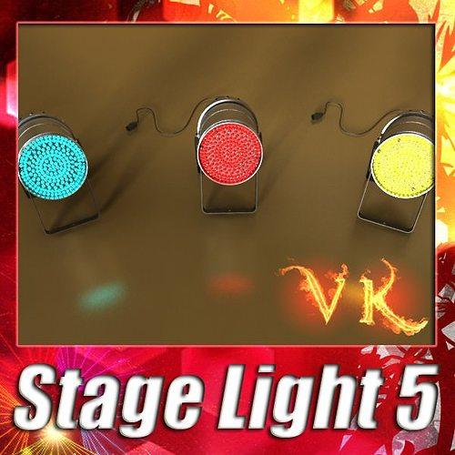 spotlight stage light 05 3d model max obj mtl 3ds fbx mat 1