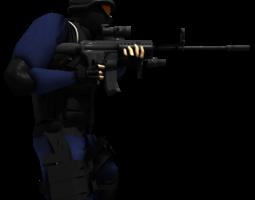 3D model SWAT member