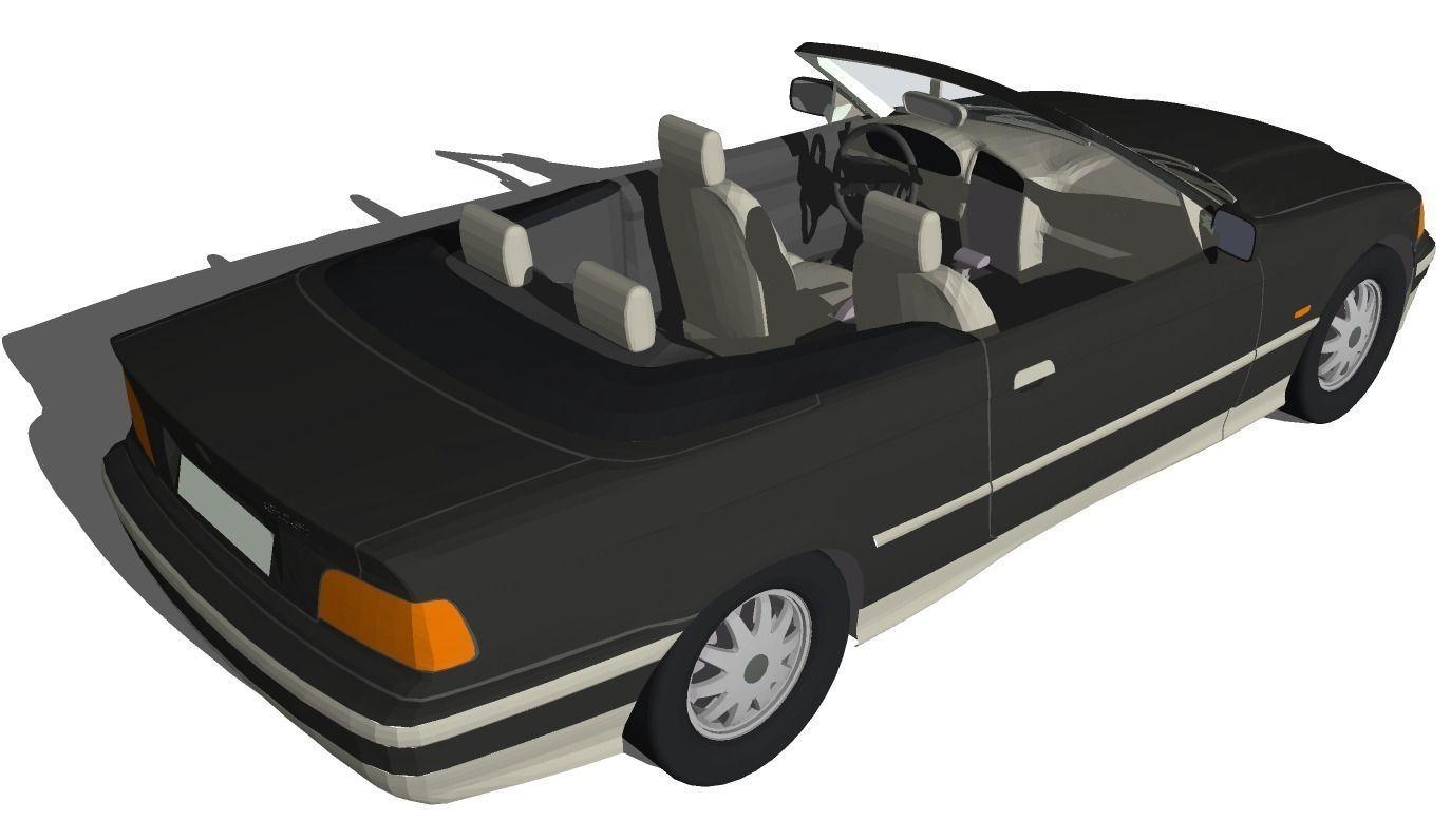3d model bmw convertible vr ar low poly dae skp. Black Bedroom Furniture Sets. Home Design Ideas