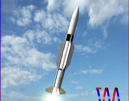 SM-2 Blk IIIA Missile 3D model
