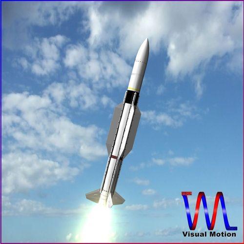 sm-2 blk iiia missile 3d model obj 3ds fbx dxf stl blend 1
