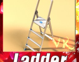step ladder high detail 3d model