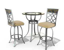 3d table and chair patio set