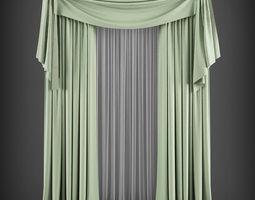 VR / AR ready Curtain 3D model 171