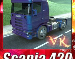 truck scania 420 high detail 3d model