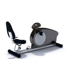 stationary bike sports equipment 3d