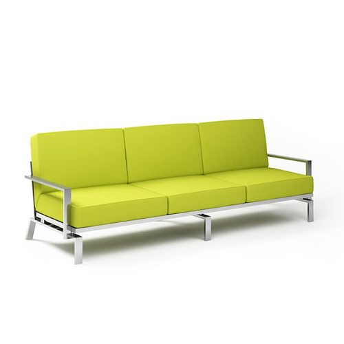 Lime Green Sofa Model Obj Mtl 1