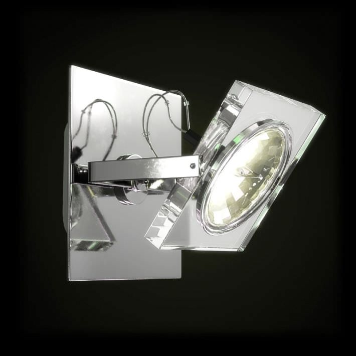 Wall Mounted Glass Lights : Modern Glass Wall Mounted Light 3D Model OBJ CGTrader.com