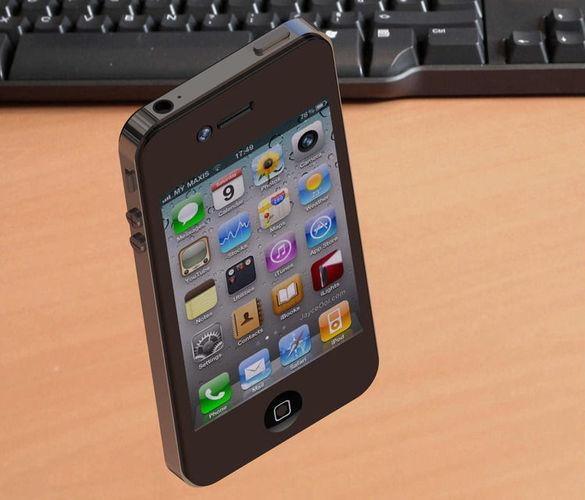 iphone s4 3d model  1