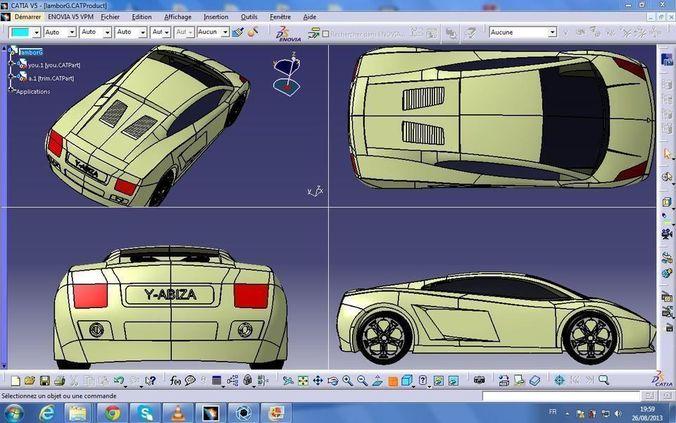 Lamborghini Gallardo Design 3d Model Cgtrader