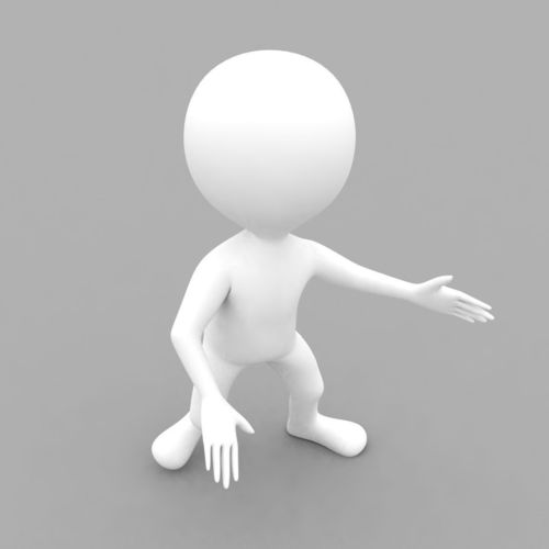 3d white character rigged with biped 3d model rigged max obj mtl stl 1