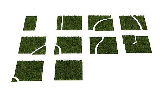 grass puzzle 14 am63 3d model obj 1