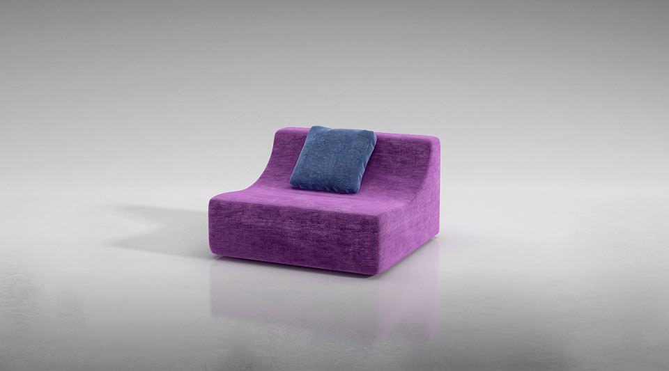 Wooden luxury sofa bed 3d model obj for Sofa bed 3d model