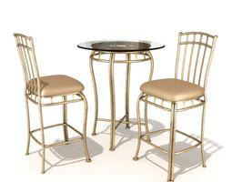 table chair set 55 am54 3d model