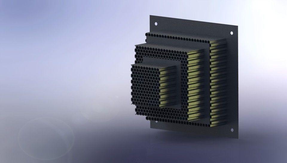Impact Attenuator Honeycomb Crashbox free 3D Model SLDPRT SLDASM ...