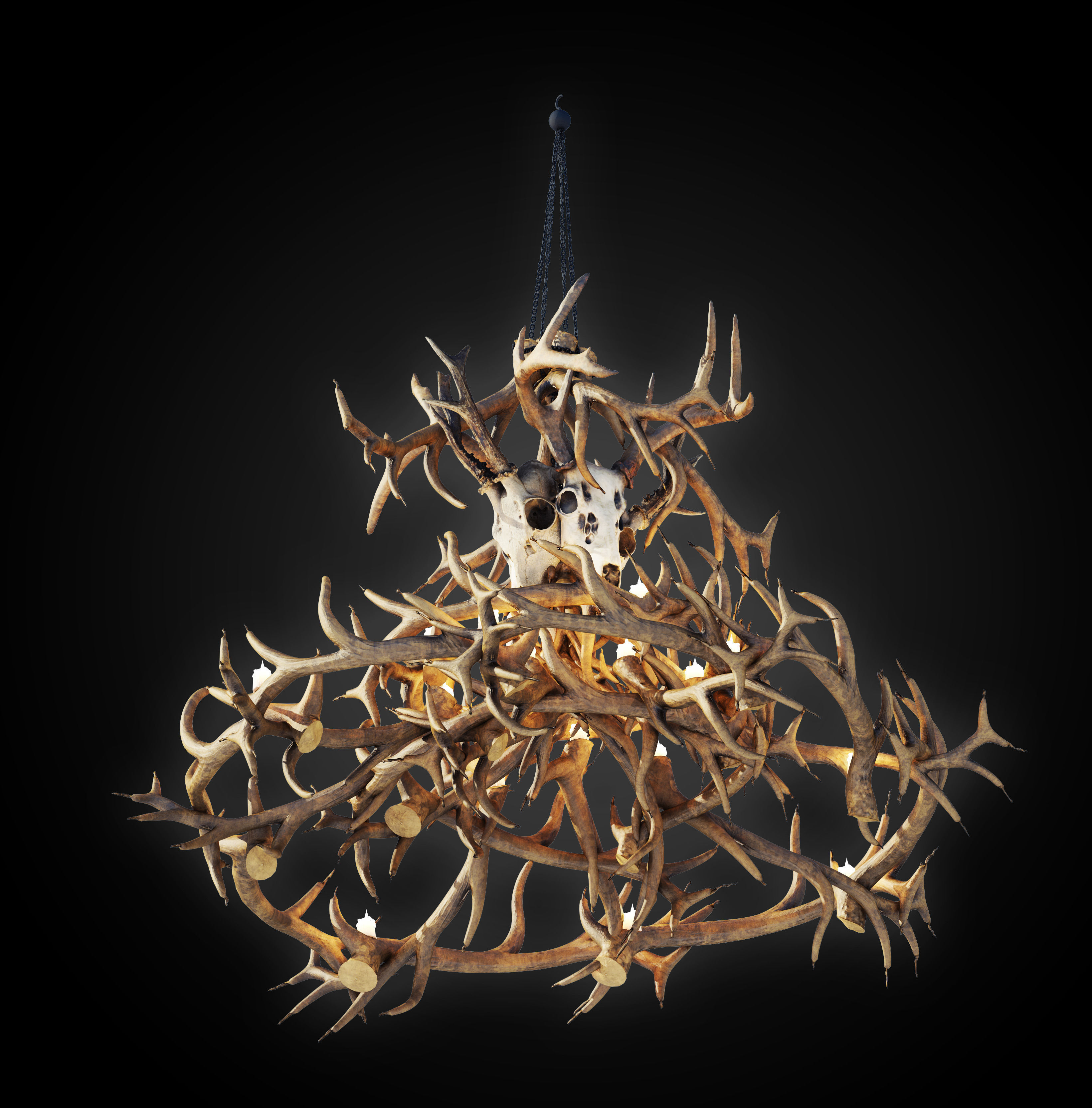 Antler Chandelier 3D model