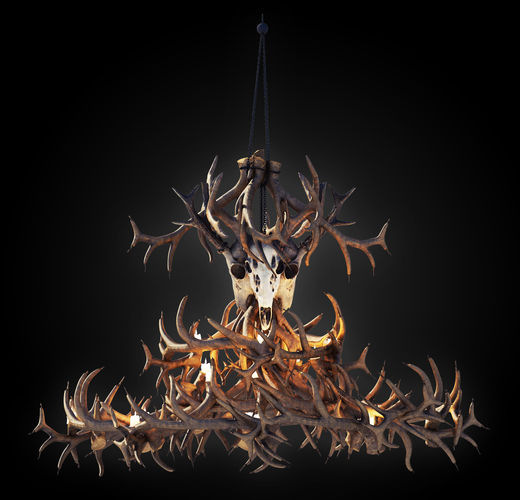 Antler chandelier 3d model cgtrader antler chandelier 3d model aloadofball Choice Image