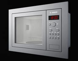 3d model bosch hmt75 m6 kitchen appliance microwave