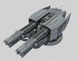 ion turret class sb1 3d model max obj 3ds fbx ma mb