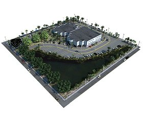 Realistic Scale Model Of A Mall