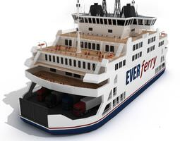 multi level ferry transport ship 3d