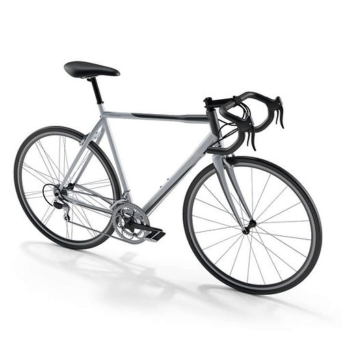 men s grey and black bicycle 3d model obj 1