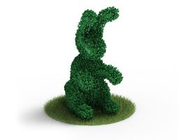 animal shape shrub bunny 3d