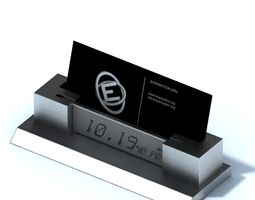 clock radio card holder 3d