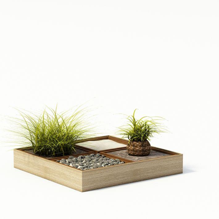 Modern Multiple Plant Pot 3d Model 1