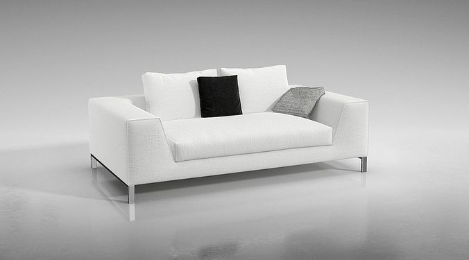 Modern White Couch modern white couch 3d model obj