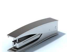 Stainless Steel Stapler 3D model