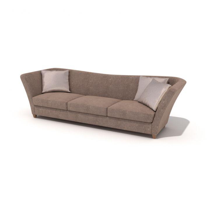 Brown Large Sofa