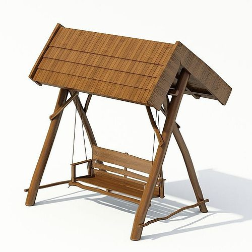 swing garden 3d model - Garden Furniture 3d