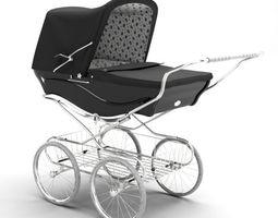 3d vintage looking baby stroller