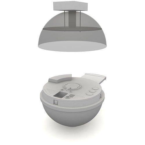 Futuristic Kitchen Stuff: 3D Futuristic Round White Kitchen Counter