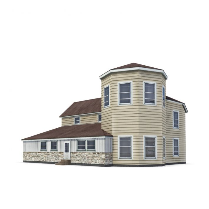 Two story model home 3d model for Home 3d model