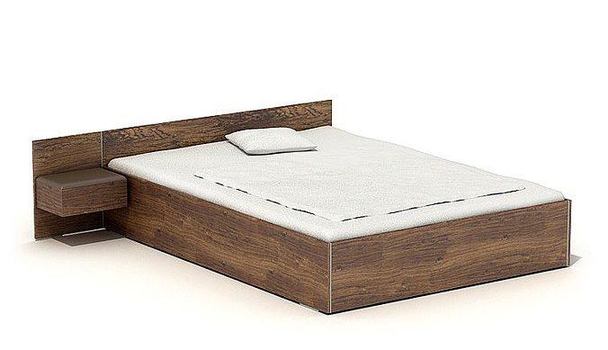 Superbe Simple Wood Deco Bed 3d Model Obj 1