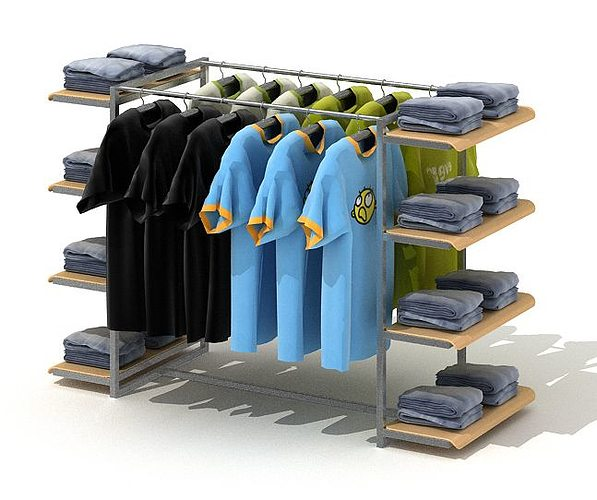 Modern Exhibition Stand List : D model clothing retailer display rack cgtrader